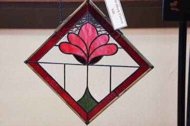 June Bell's stained glass at Prairie PastTimes