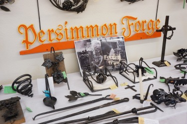 Persimmon Forge iron work at Prairie PastTimes