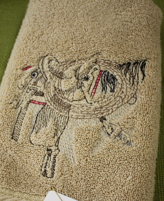 bernie saddle towel