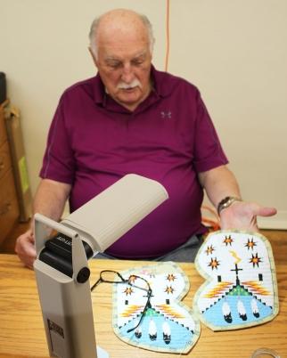 Bernie sewing cuffs