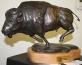 Chris bronze bison bull