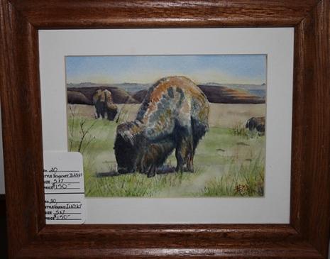 deb bison painting