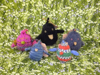 Hand Knit Happy Birds by BoyzenBunny Fiber Arts at Prairie PastTimes