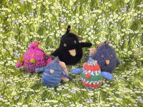 Hand Knit Happy Birds by BoyzenBunny Fiber Arts at Prairie PastTimes
