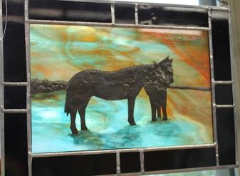 judy horses glass