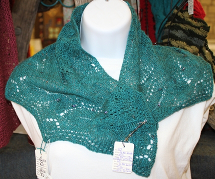 Margie taos shawl with Gabi brooch