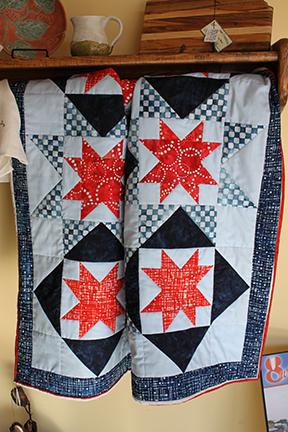Margie's star spangled quilt