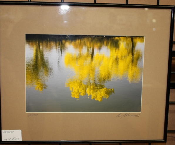 Ron yellow trees reflection