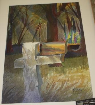 Deb Hanes-Nelson stone post mailbox