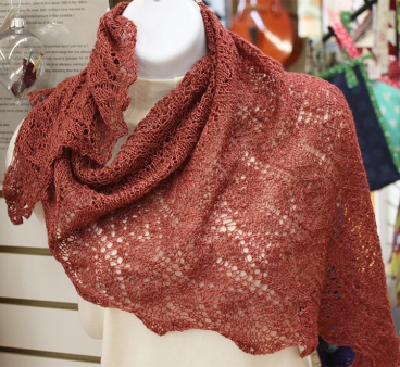 margie bison shawl