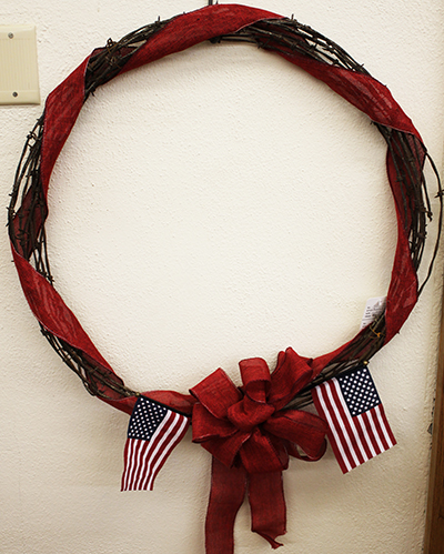 hatcher barbed wire wreath